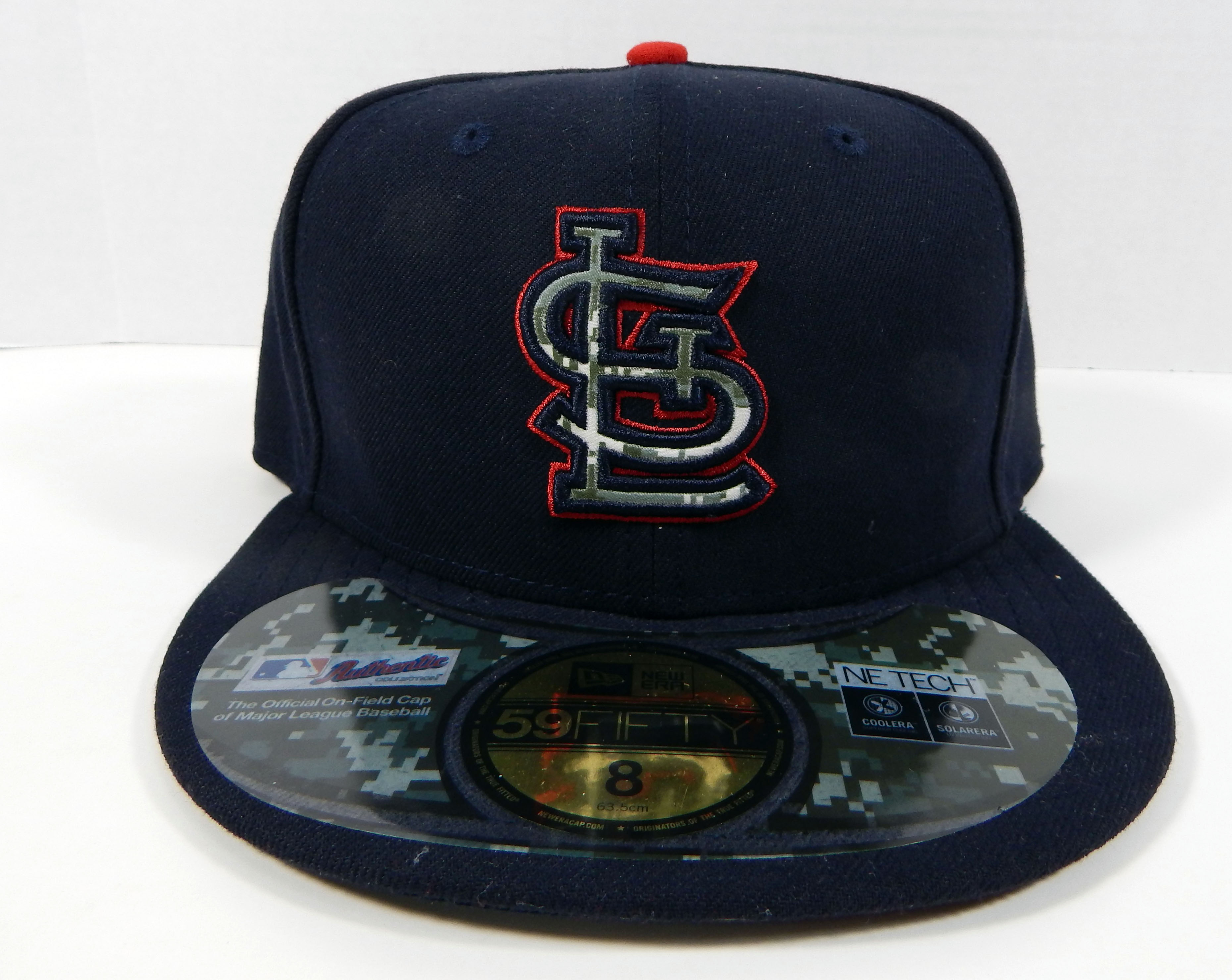super popular e190f 8c0c1 St. Louis Cardinals Game Issued New Era Navy Digital Camo 59FIFTY Fitted Hat