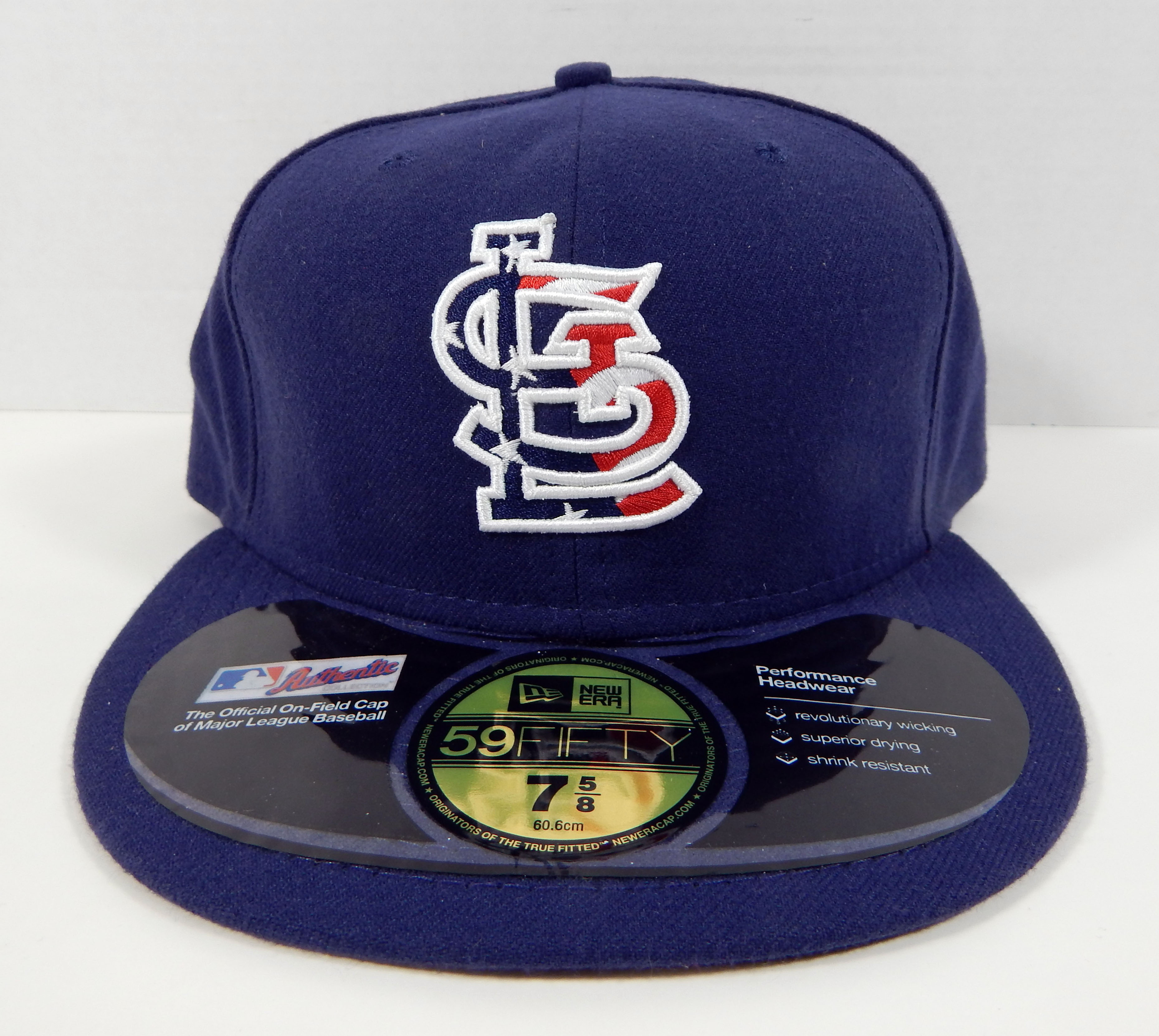 reputable site 4969e 6b495 Details about St. Louis Cardinals New Era Navy 4th July Stars   Stripes  59FIFTY Fitted Hat