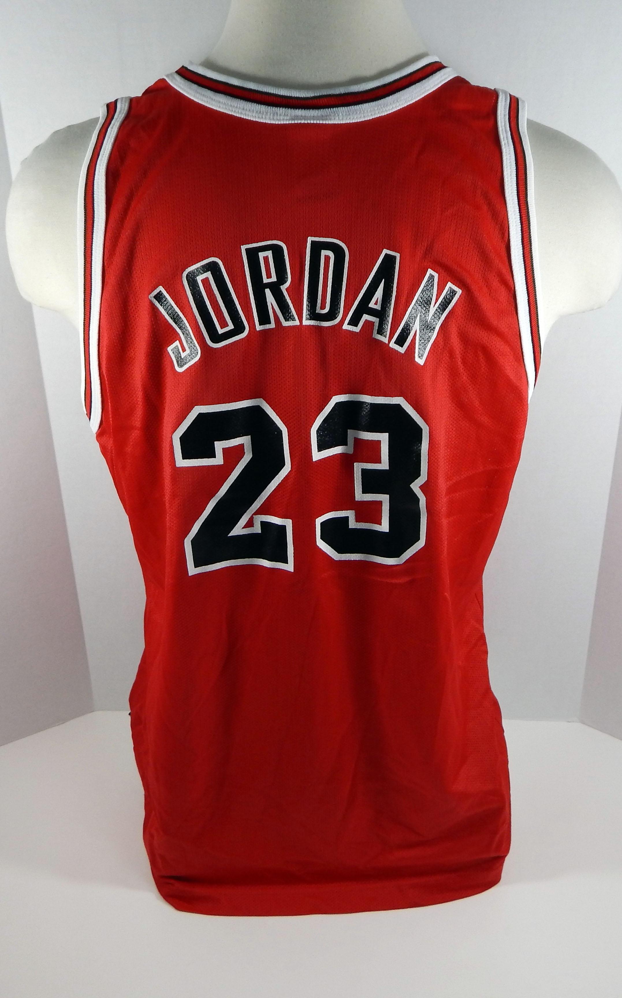 c2d66f99a 1996 Chicago Bulls Michael Jordan  23 Replica Red Champion Jersey Gold Logo