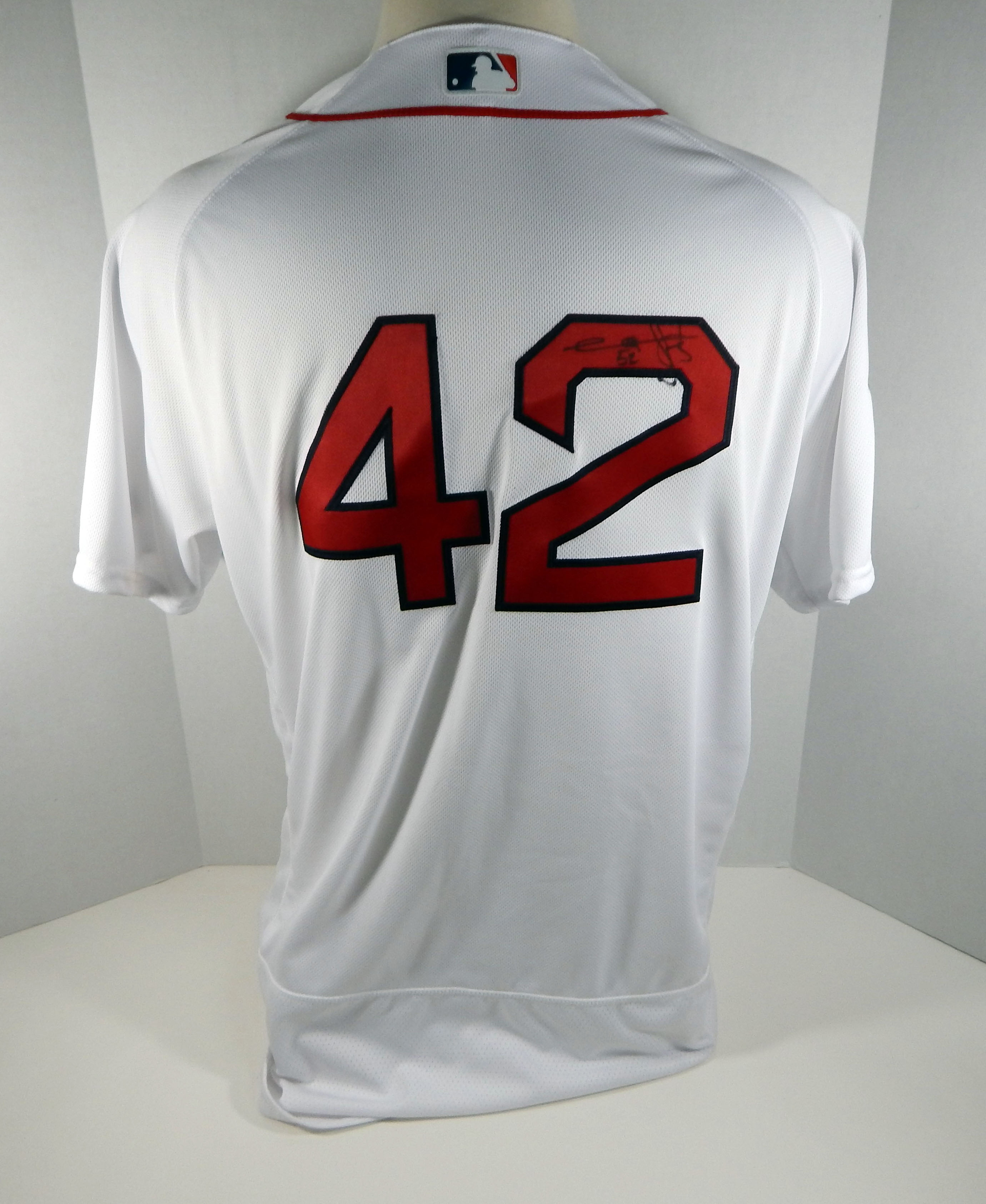 more photos 3fa7c afc19 Image is loading 2018-Boston-Red-Sox-Carlos-Febles-42-Game-
