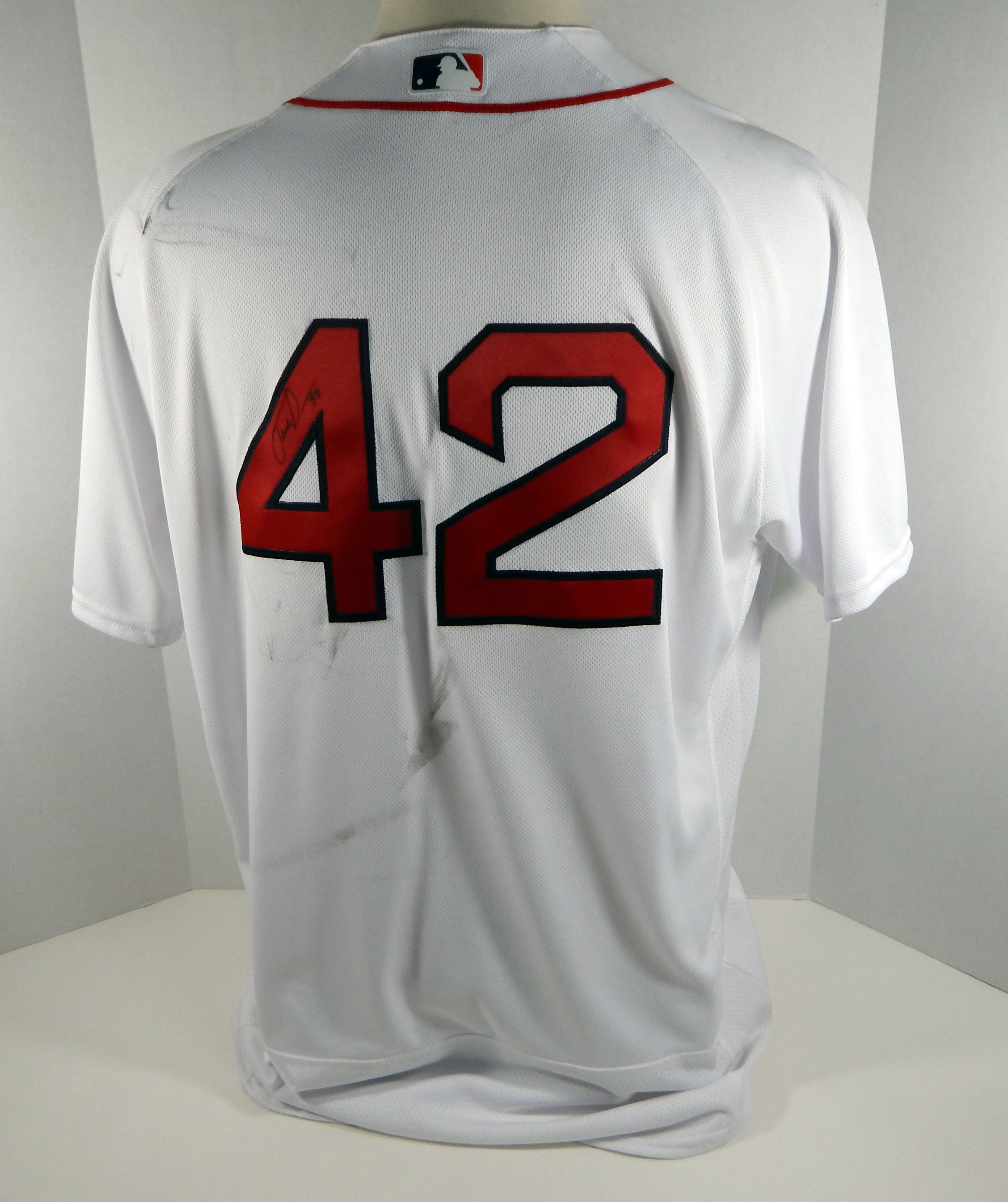new styles 3fffb 3605d Details about 2017 Boston Red Sox Fernando Abad #42 Game Used White Jackie  Robinson Jersey