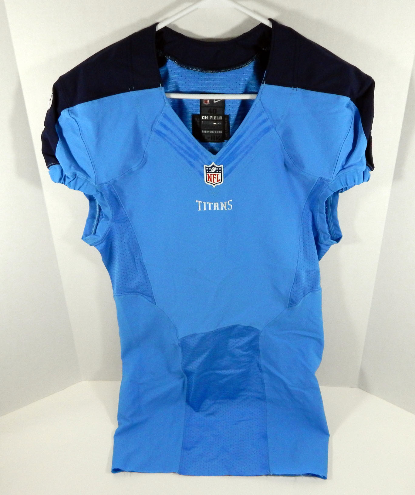 size 40 3f6ee 252cf Details about 2016 Tennessee Titans Blank # Game Issued Light Blue Color  Rush Jersey Titan0109