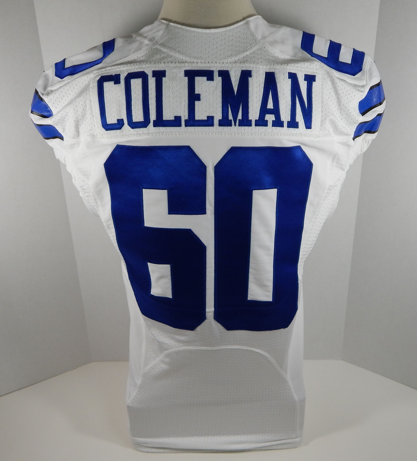 2015 Dallas Cowboys Davon Coleman #60 Game Issued White Jersey   eBay