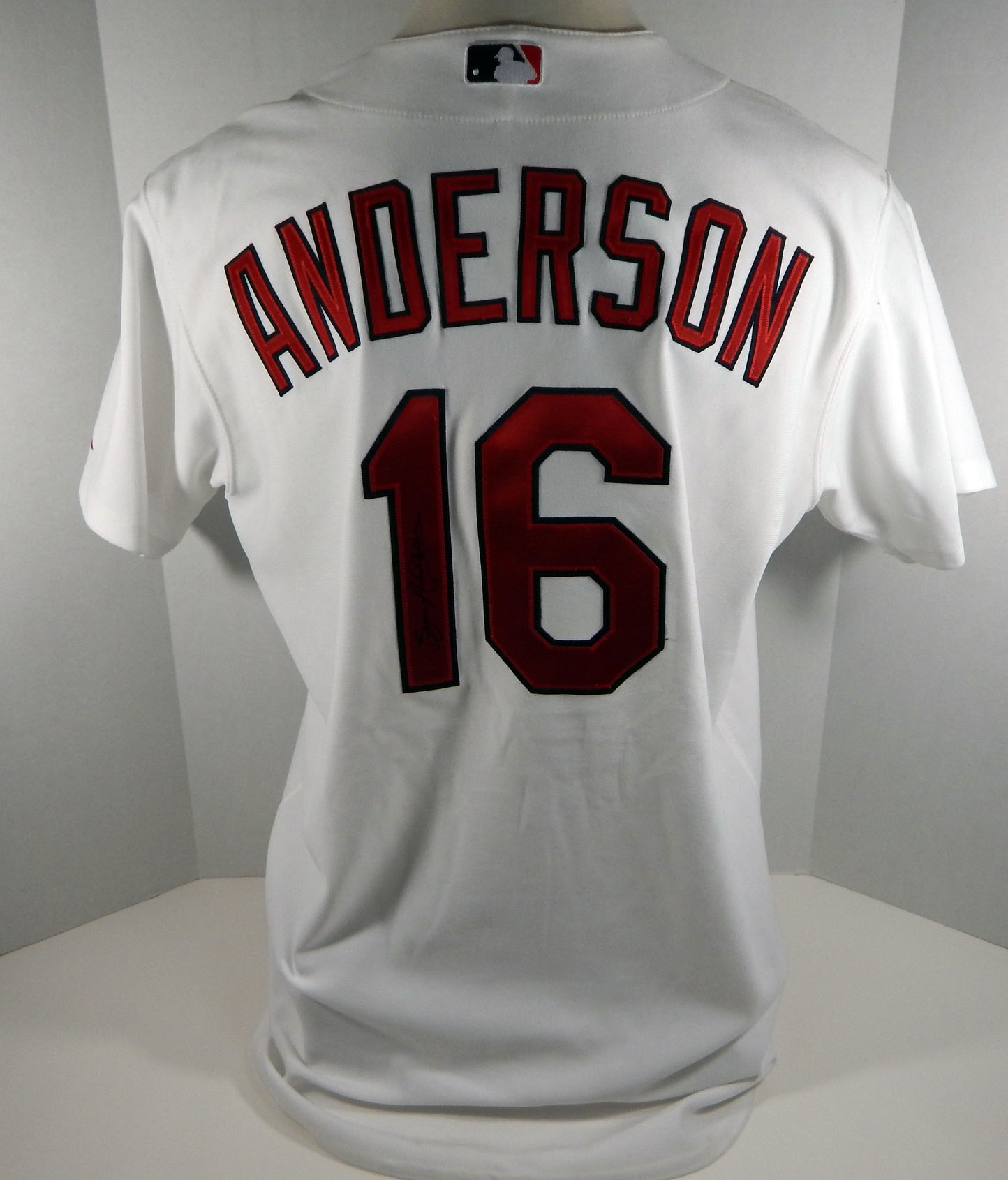 big sale 60f08 6c437 Details about St. Louis Cardinals Bryan Anderson #16 Game Issued White  Jersey