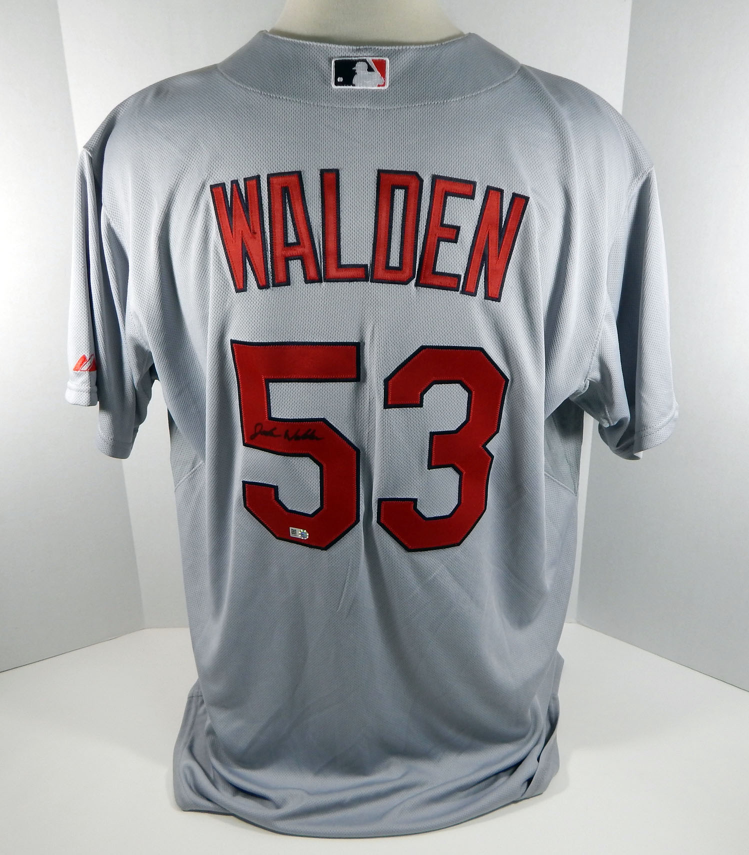quality design 57f63 68b1c Details about St. Louis Cardinals Jordan Walden #53 Game Issued Signed Grey  Jersey