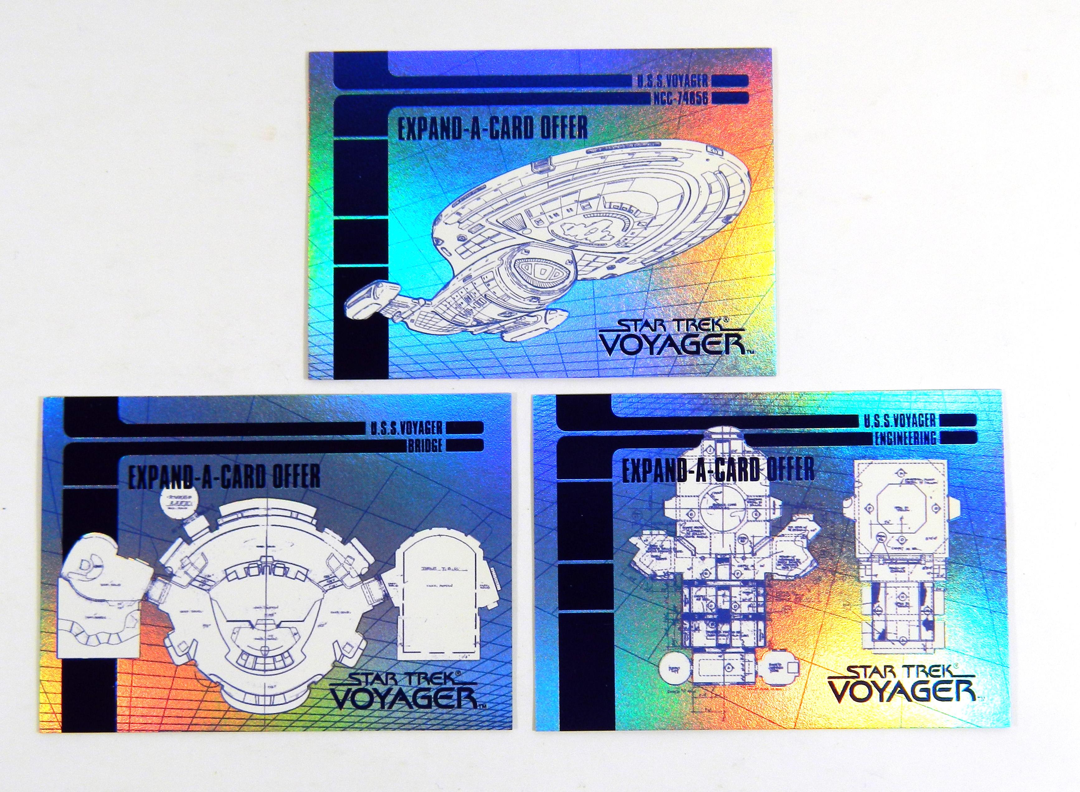 STAR TREK VOYAGER SEASON 1 SERIES 1 Complete BLUEPRINT EXPAND OFFER Card Set 3