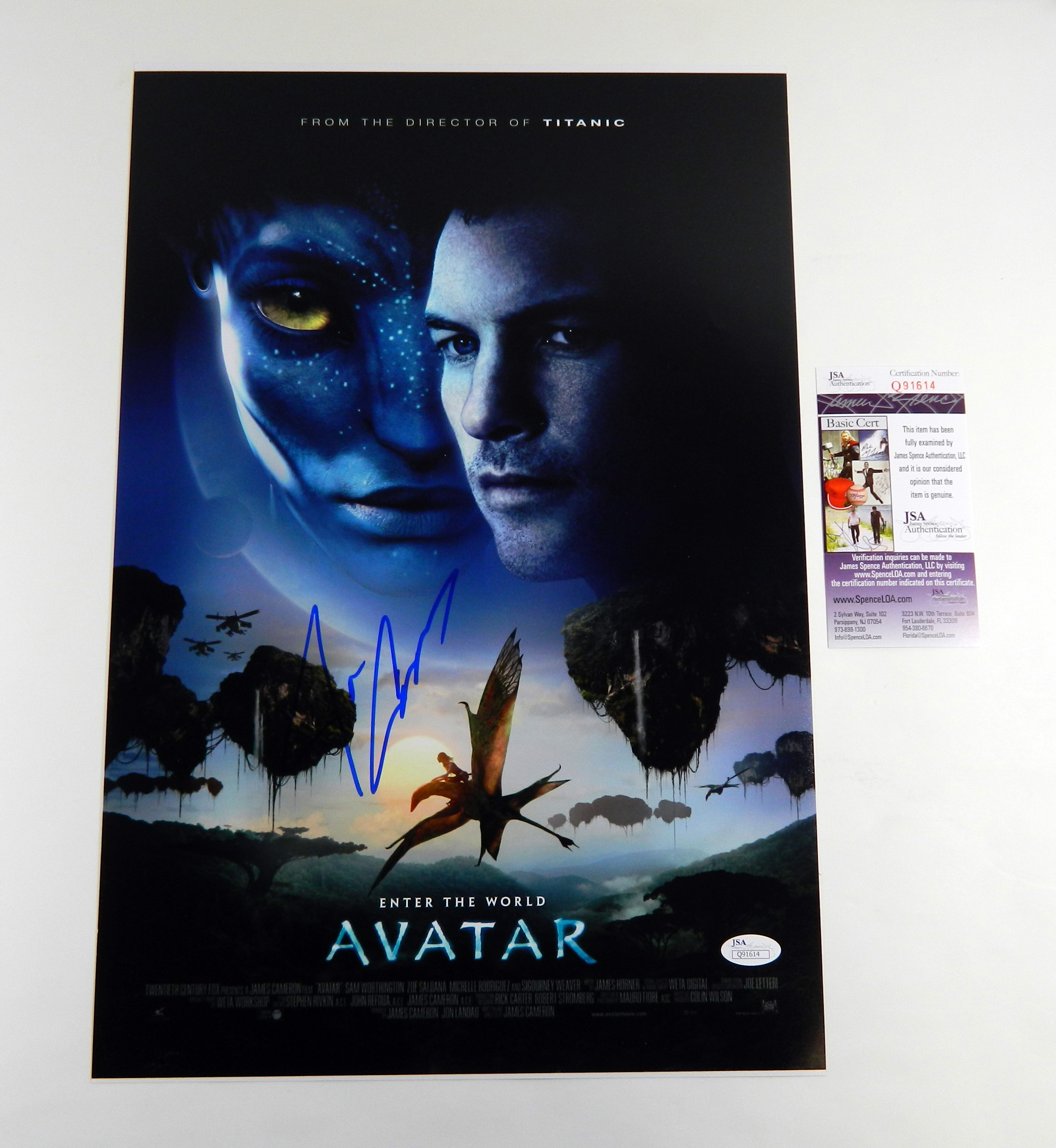 Avatar 2 Poster: James Cameron Signed 12x18 Movie Poster Photo Avatar JSA