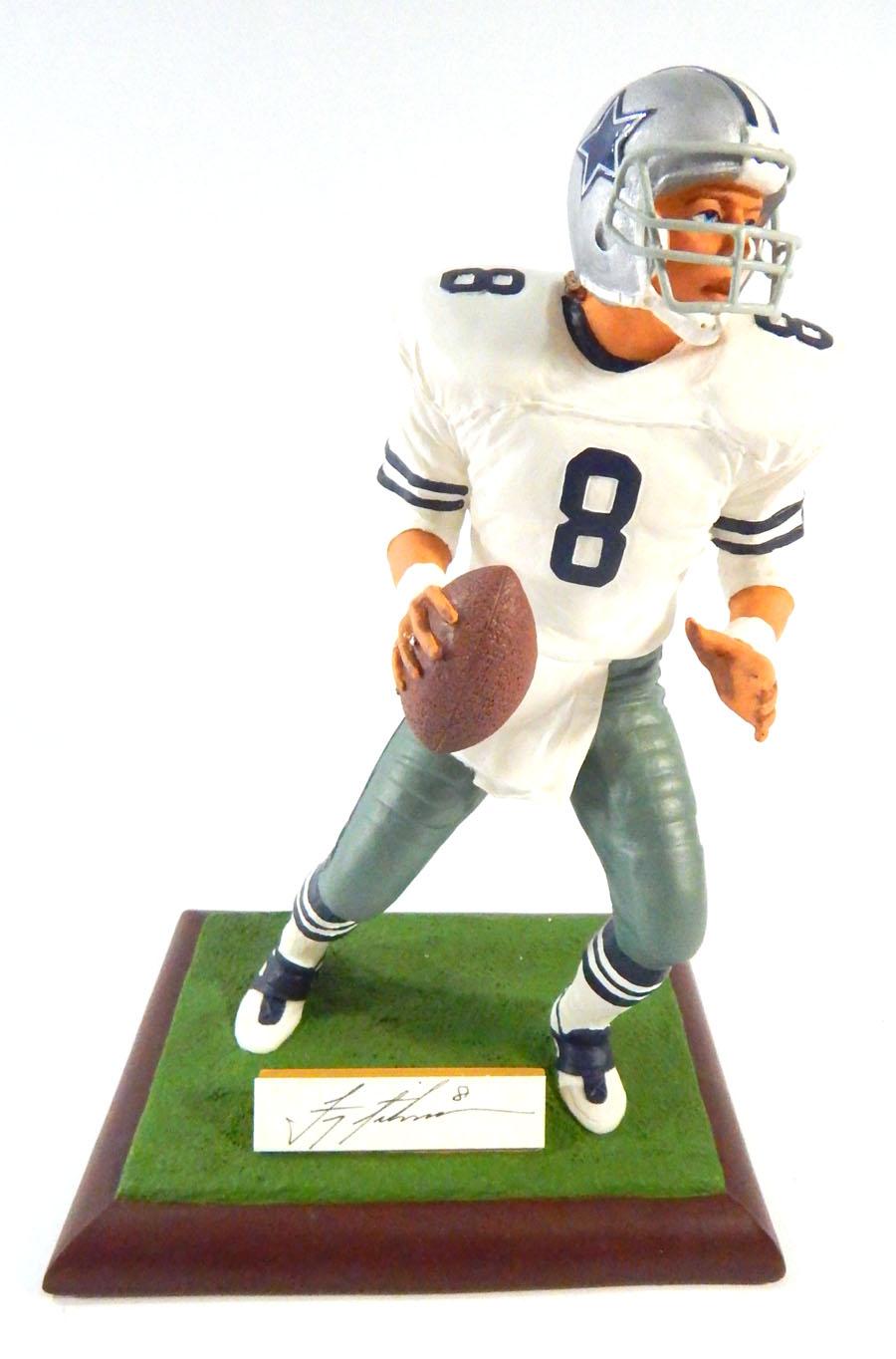 5384ed84 1994 Gartlan Troy Aikman Dallas Cowboys Signed Figurine/Statue #546 ...