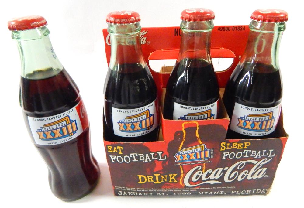 Details about (4) Coca-Cola NFL Super Bowl XXXIII Coke Bottles in 6-Pack  Broncos vs Falcons 2b5363a8e