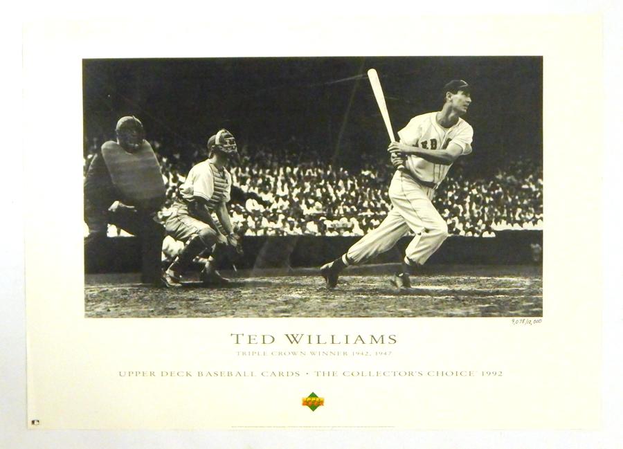 4281d2806c4 1992 Upper Deck Ted Williams Triple Crown Winner Poster 21