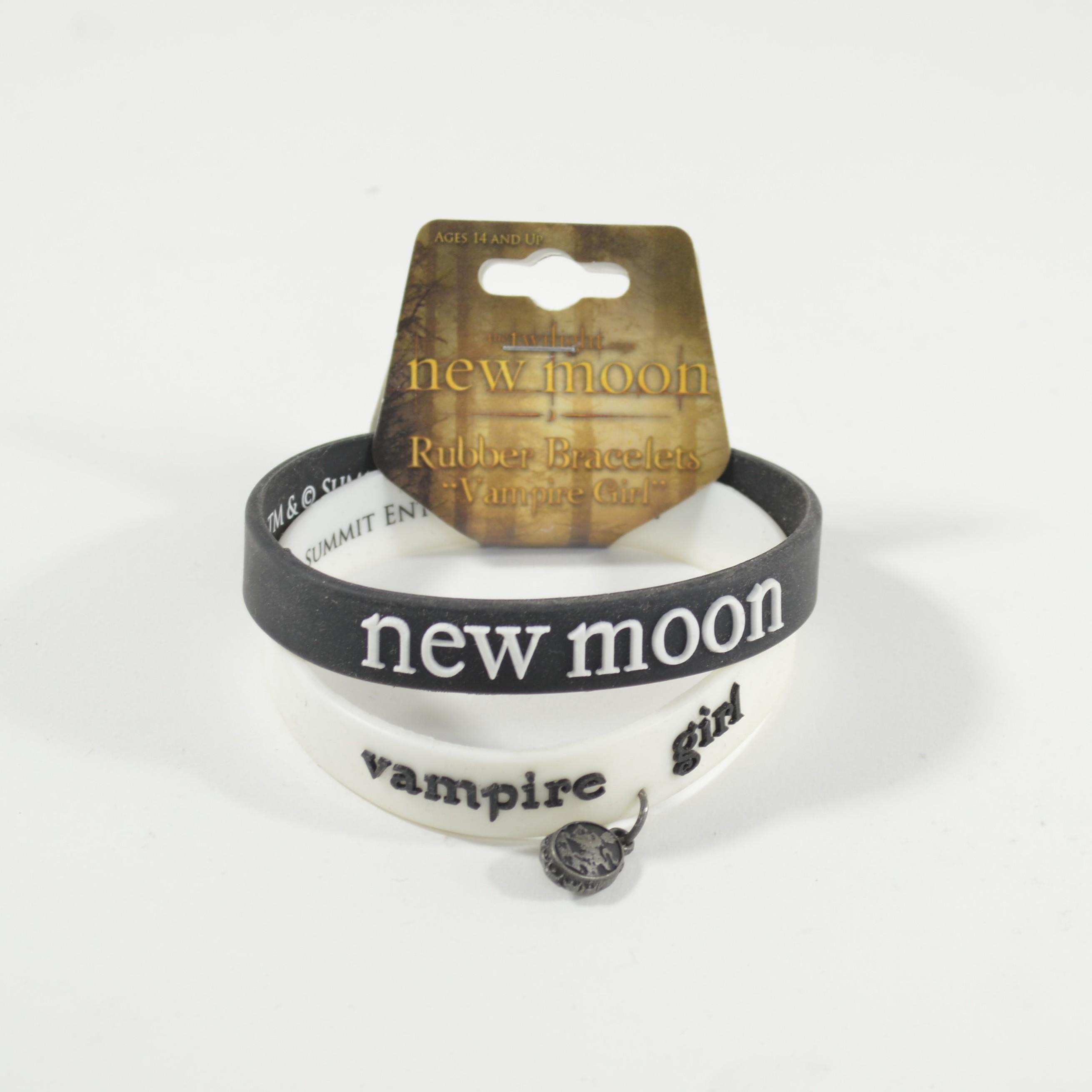 2 per pack Twilight New Moon Vampire Girl Rubber Wristband Bracelet