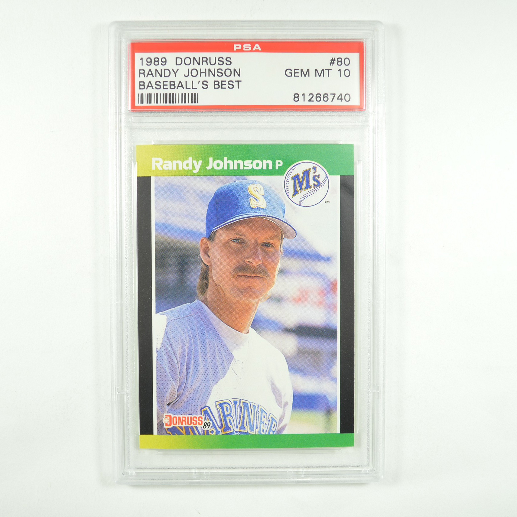 1989 Donruss Baseball's Best Randy Johnson #80 Rookie