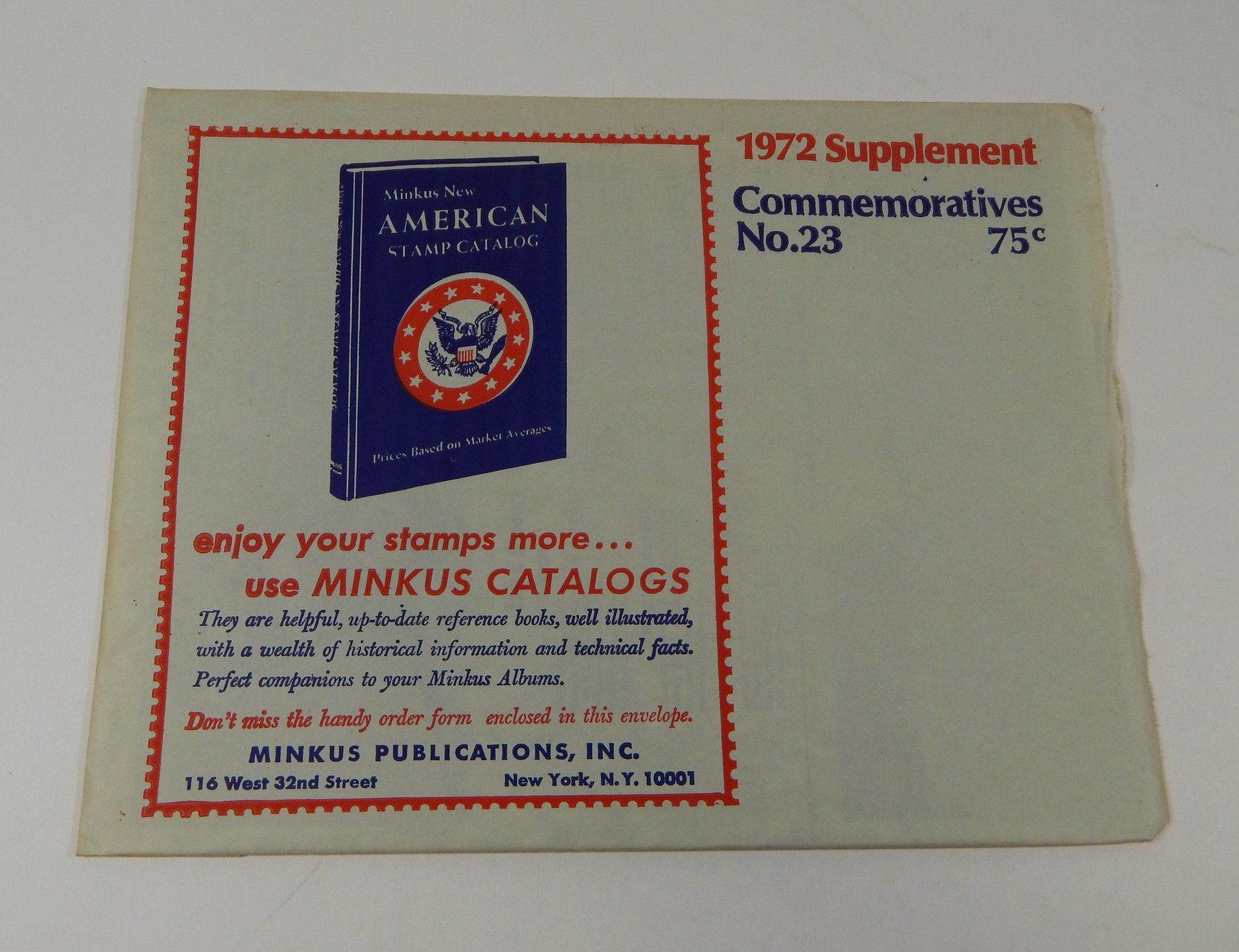 Minkus Commemoratives No 23 1972 Supplement Stamp Album Pages Ebay