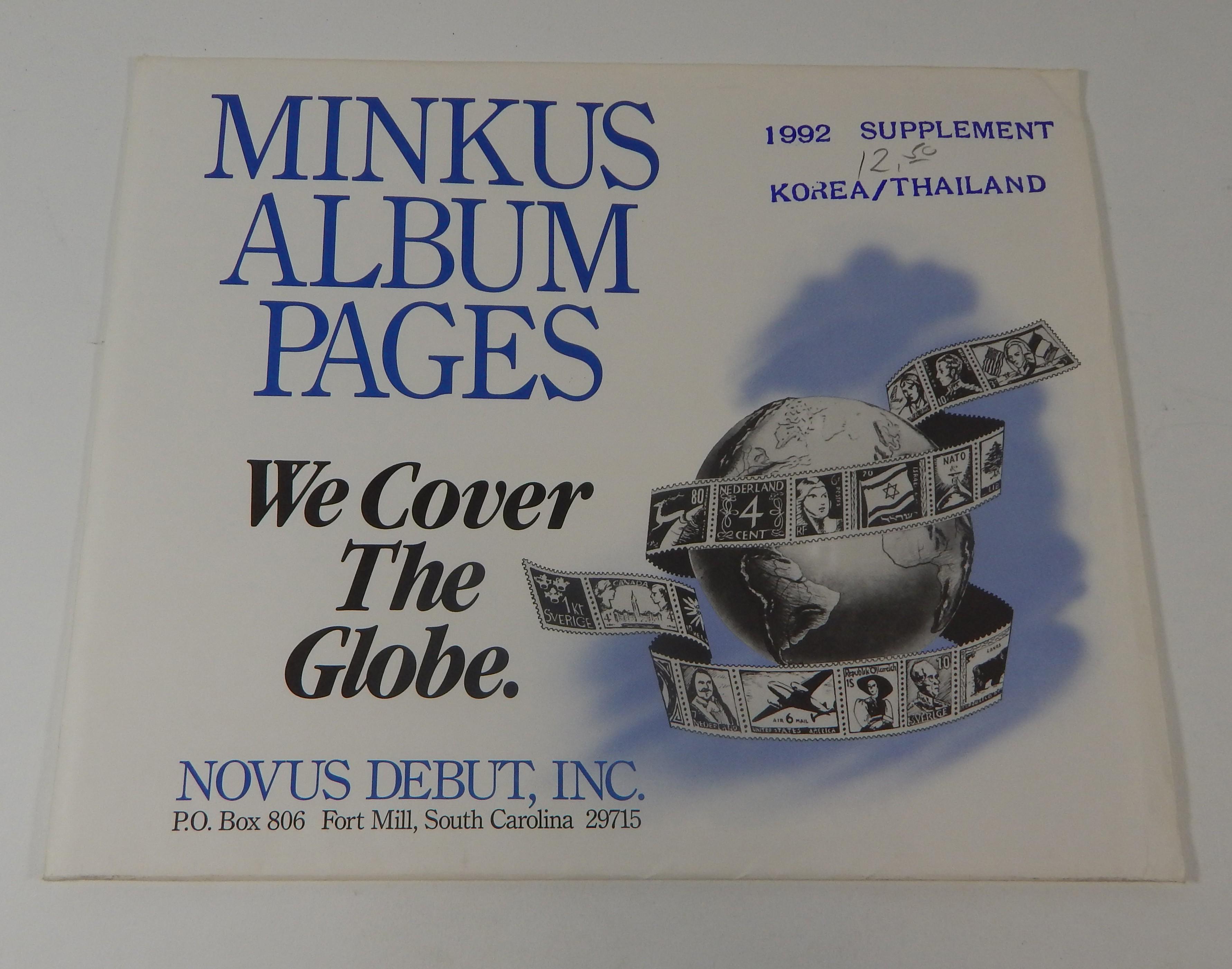 Minkus Korea/Thailand 1992 Supplement Stamp Album Pages | eBay
