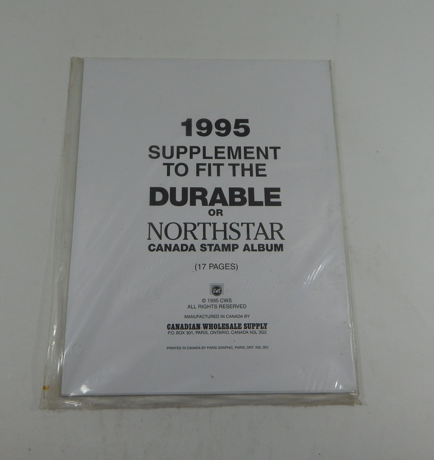 Canadian Wholesale Supply Durable Northstar Canada Stamp Album 1995