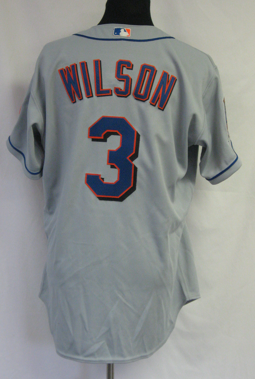 2002 New York Mets Vance Wilson #3 Game Issued Possibly Used Road Jersey 5727